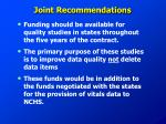 joint recommendations
