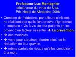 professeur luc montagnier d couvreur du virus du sida prix nobel de m decine 2008