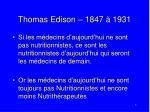 thomas edison 1847 1931