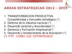 areas estrategicas 2012 2013