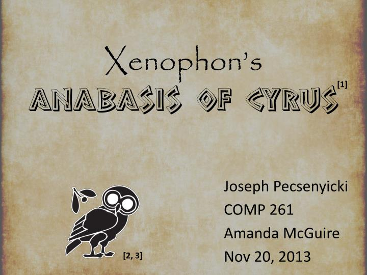 xenophon s anabasis of cyrus n.