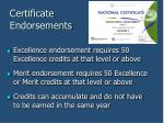 certificate endorsements