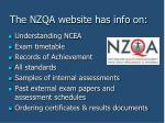 the nzqa website has info on