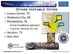 other notable cities