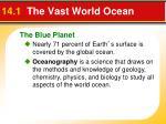 14 1 the vast world ocean