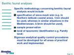 benthic faunal analyses1