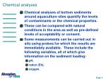 chemical analyses