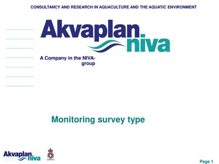 consultancy and research in aquaculture and the aquatic environment n.