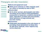 photography and video interpretation