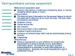 semi quantitative sensory assessment
