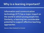 why is e learning important