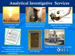 analytical investigative services