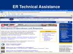 er technical assistance