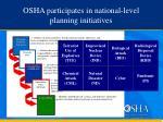 osha participates in national level planning initiatives