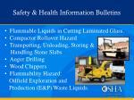safety health information bulletins