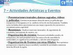 7 actividades art sticas y eventos