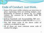 code of conduct just think2