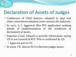 declaration of assets of judges