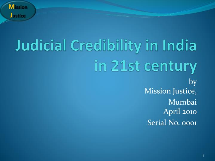 judicial credibility in india in 21st century n.