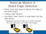robolab mission 3 board edge detection