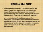 esd in the ncf1