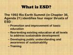 what is esd