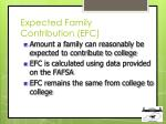 expected family contribution efc