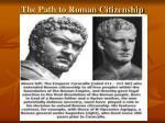the path to roman citizenship