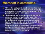 microsoft is committed