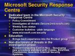 microsoft security response centre