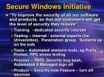 secure windows initiative