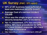 uk survey pwc dti report