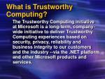 what is trustworthy computing