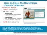cisco on cisco the news@cisco corporate newsroom
