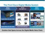 the first cisco digital media system