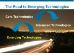 the road to emerging technologies
