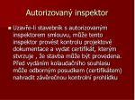 autorizovan inspektor