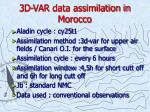 3d var data assimilation in morocco