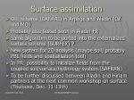 surface assimilation