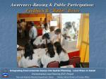 awareness raising public participation feedback ballot boxes