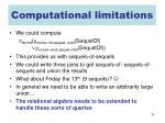 computational limitations1