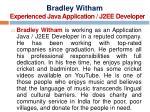 bradley witham experienced java application j2ee developer
