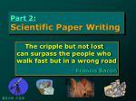 part 2 scientific paper writing1