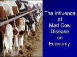 the influence of mad cow disease on economy
