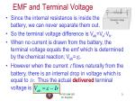 emf and terminal voltage1