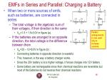 emfs in series and parallel charging a battery