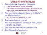 using kirchhoff s rules