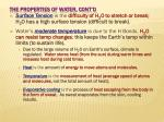 the properties of water cont d