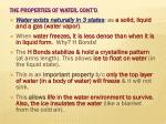 the properties of water cont d1
