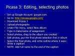 picasa 3 editing selecting photos
